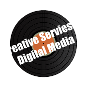 Creative Services and Digital Media spinning vinyl services icon