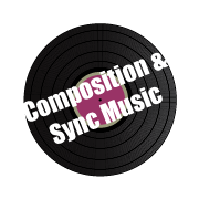 Composition and Sync Music spinning vinyl services icon