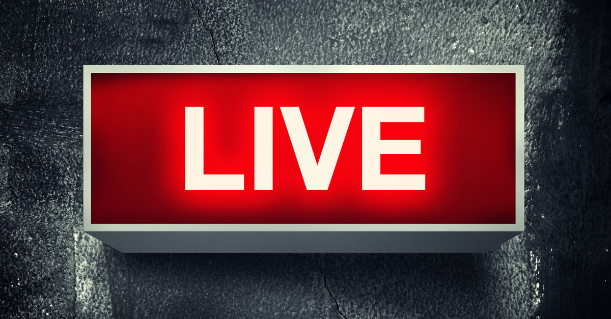 Live on Air Neon Sign Wide